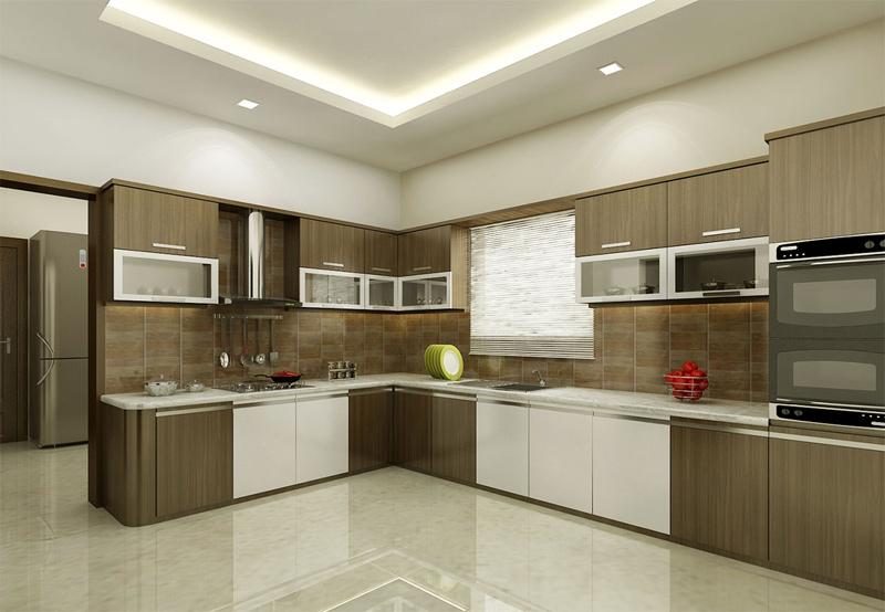 Modular Kitchen Cabinet Setup Design